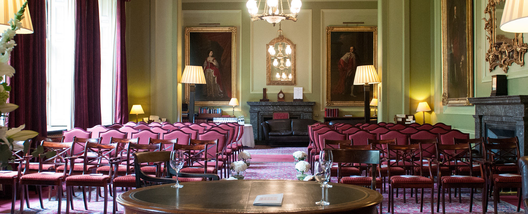 106 Pall Mall green drawing room for hire